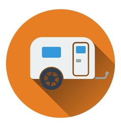 Icon of camping family caravan car vector