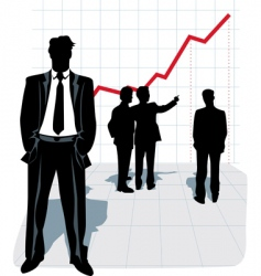 illustration of businessman silhouette vector image