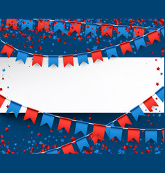 independence day background with flags vector image