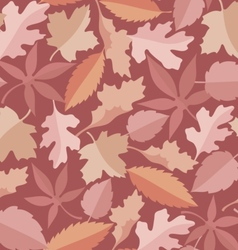 leaves marsala pattern vector image vector image