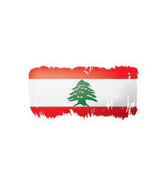lebanese flag on a white vector image