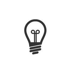 light bulb lamp graphic icon design template vector image