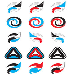 Logo set abstract unusual icon vector image