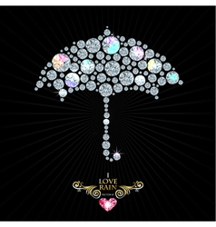 Love rain vector image
