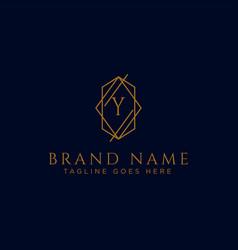 Luxury logotype premium letter y logo with golden vector
