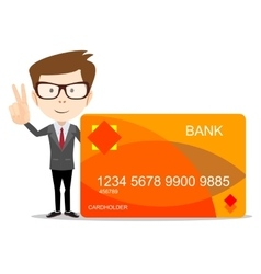 man with credit card for use in advertising vector image