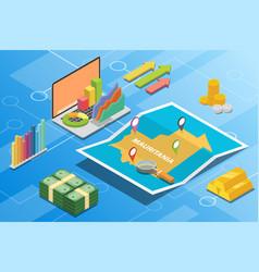 Mauritania isometric financial economy condition vector