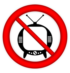 No TV sign vector