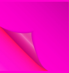 Pattern of bent corner for free filling of pink vector