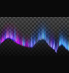phenomenon arctic northern aurora light vector image