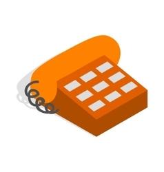 Phone handset icon isometric 3d style vector