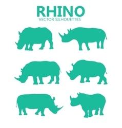 rhino silhouettes vector image