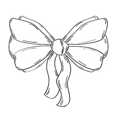 Ribbon on the white background vector