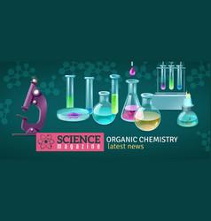 Science magazine horizontal vector