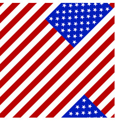 seamless pattern flag of the usa vector image vector image