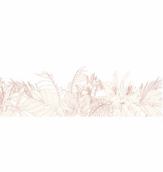 seamless vintage flowers with buds small flower vector image