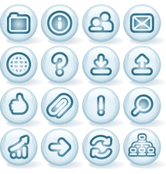 Shiny buttons 3 vector