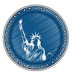 Statue liberty icon vector