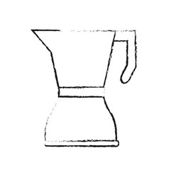 Stove top kettle coffee related icon image vector
