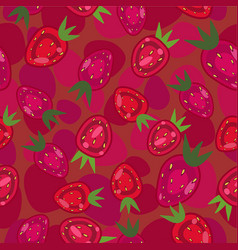 Strawberry seamless texture vector
