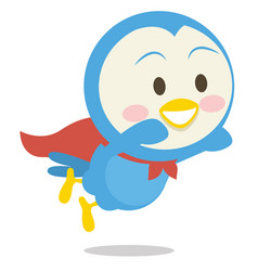 Super dove character art vector