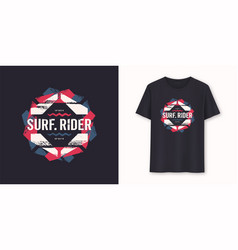 surfrider stylish graphic tee design print vector image