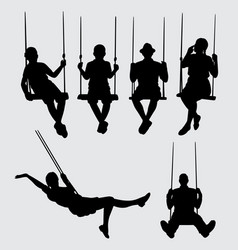 Swing silhouette vector