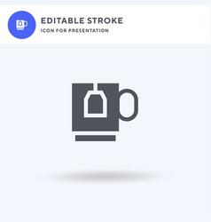 tea mug icon filled flat sign solid vector image