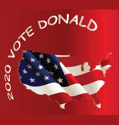 usa vote republican vector image