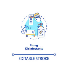 using disinfectants concept icon vector image