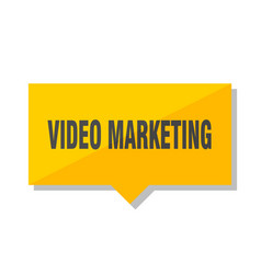video marketing price tag vector image