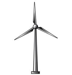 Wind turbine - driven generators vector