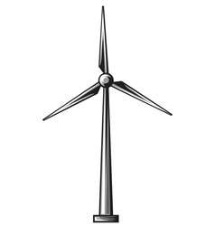 Wind turbine - wind driven generators vector