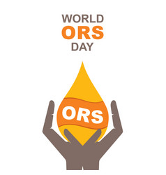 world ors day poster design vector image