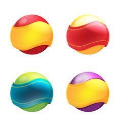 abstract circle ribbon symbol logo vector image vector image