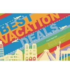 banner for a travel agency vector image vector image