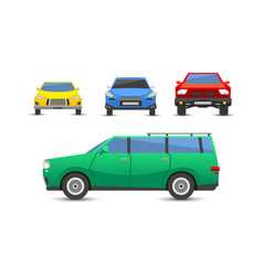 flat car vehicle type design sign technology style vector image