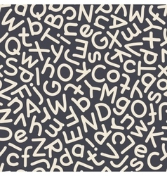 Hand Drawn Mix Letters Seamless Pattern Dark vector image