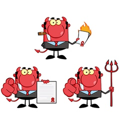 Happy Devil Boss Cartoon Characters Collection vector image