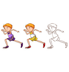 doodle character for runner vector image