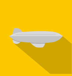 gray blimp aircraft flying icon flat style vector image