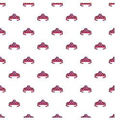 princess crown pattern seamless vector image