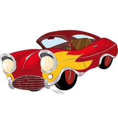 The old car from a cartoon film vector image vector image