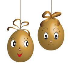 character easter eggs vector image vector image