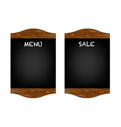 Restaurant Menu Board Set vector image