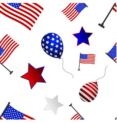seamless pattern to the day of independence of the vector image vector image