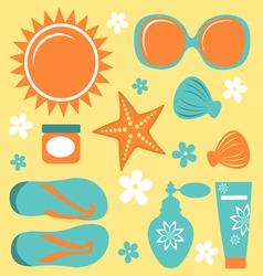 Summer collection vector image