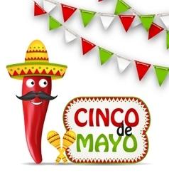 Cinco De Mayo Holiday Background vector image vector image