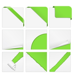 corner design elements vector image vector image