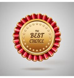 gold metal badge vector image vector image